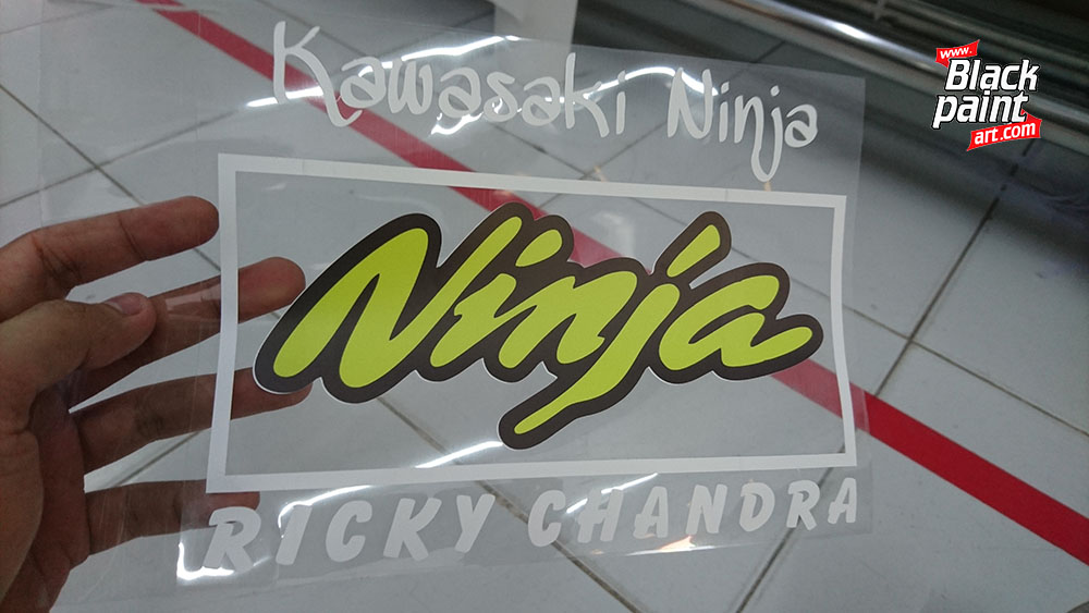 6. cutting sticker motor honda
